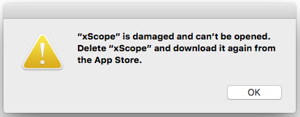 """App is Damaged Can't Be Opened"" Error Messages"